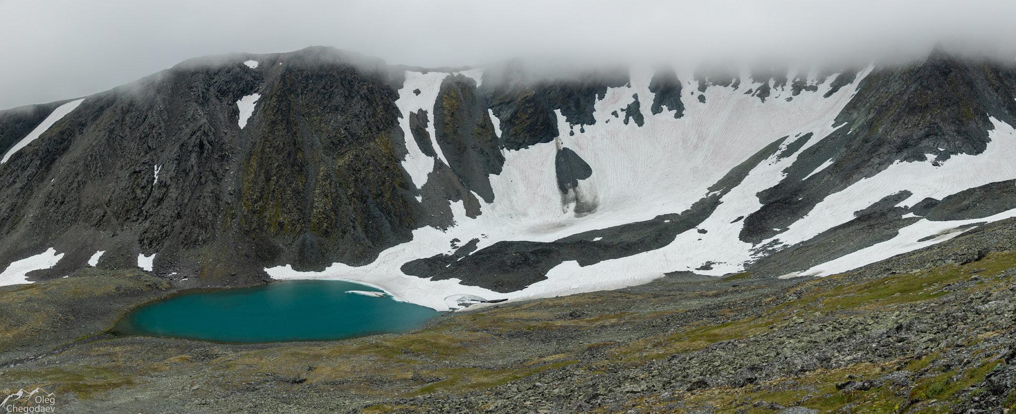 Ледник Кулика со склонов горы Нарнаурдыкеу