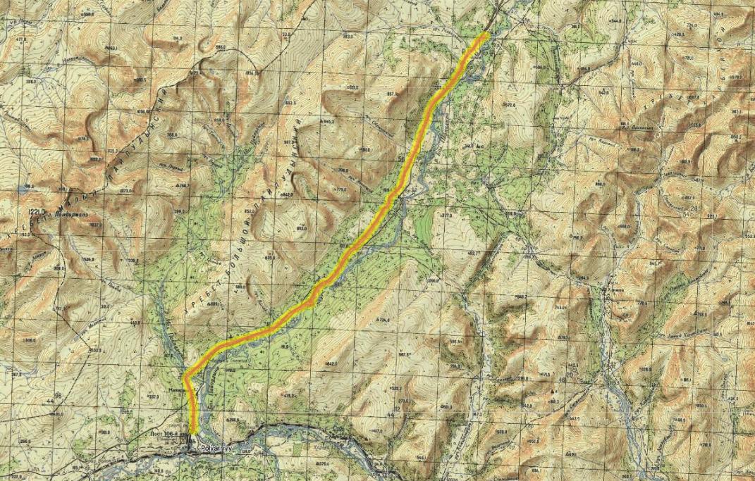 1 день 110 км(Полярный - Малай Пайпудына - бараки)