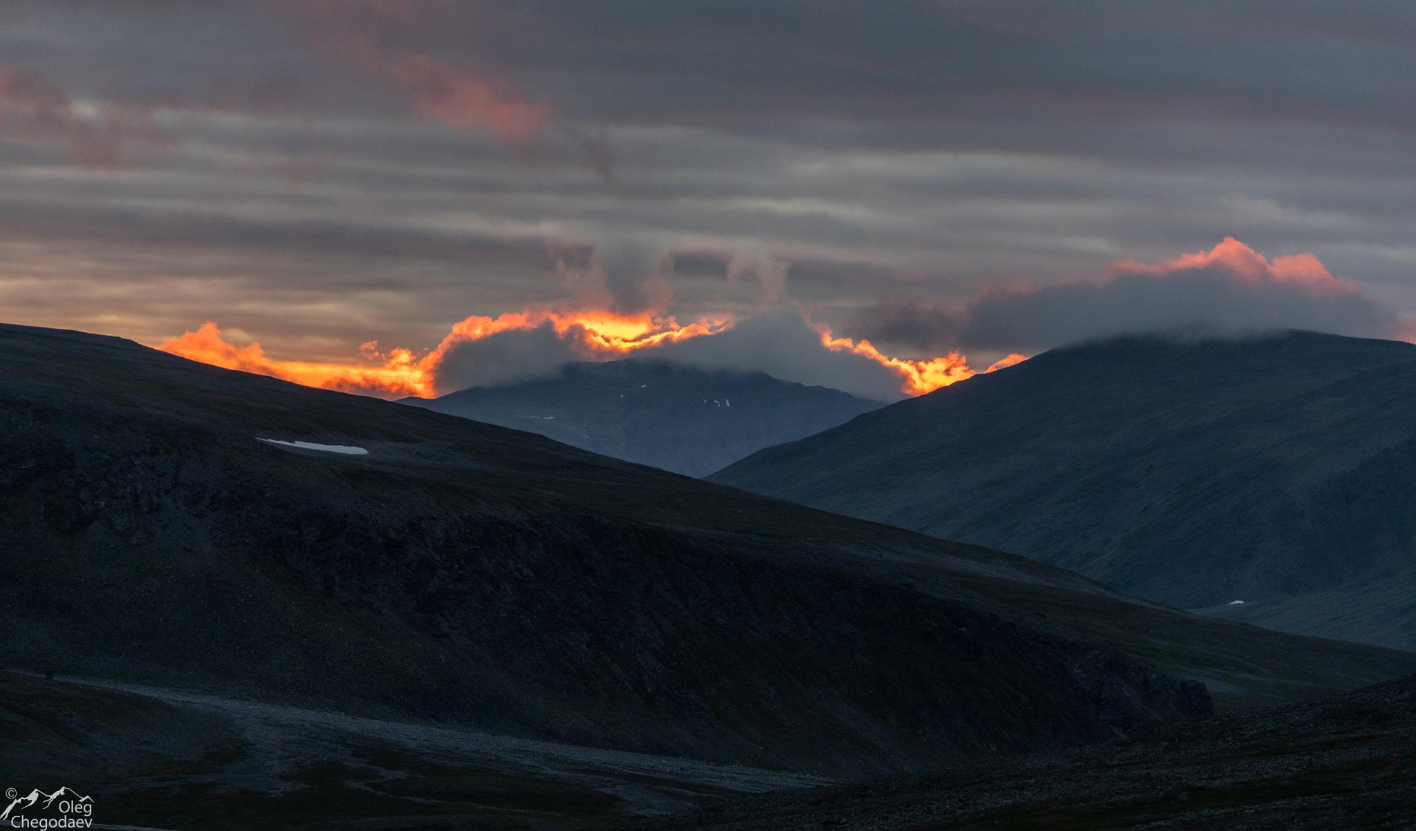 Закат на Полярном Урале