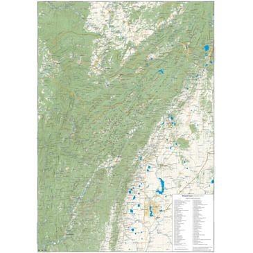 Карта Высокого Южного Урала