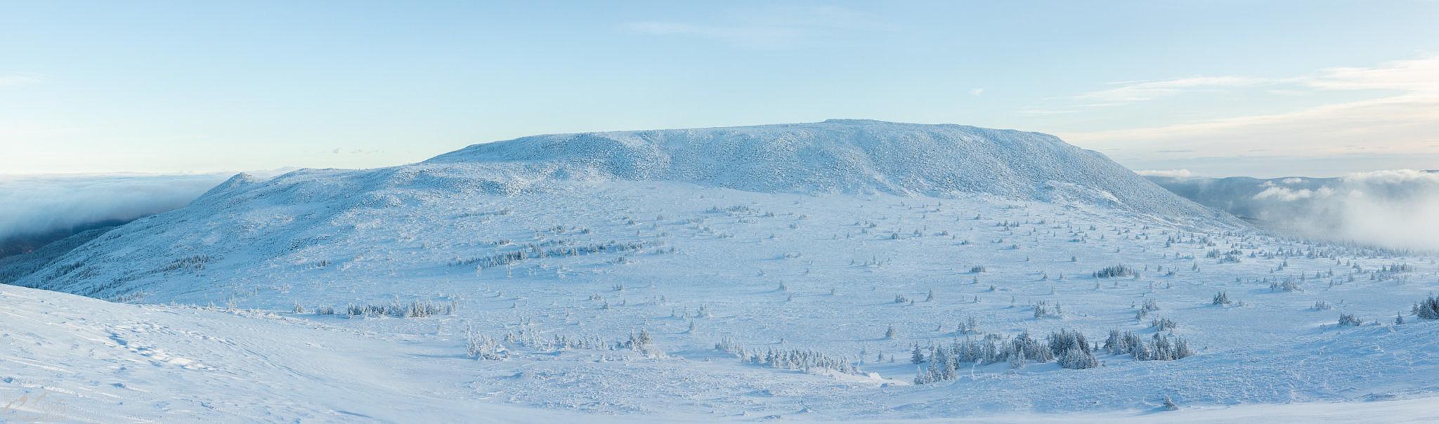 Гора Поперечная вид с юга