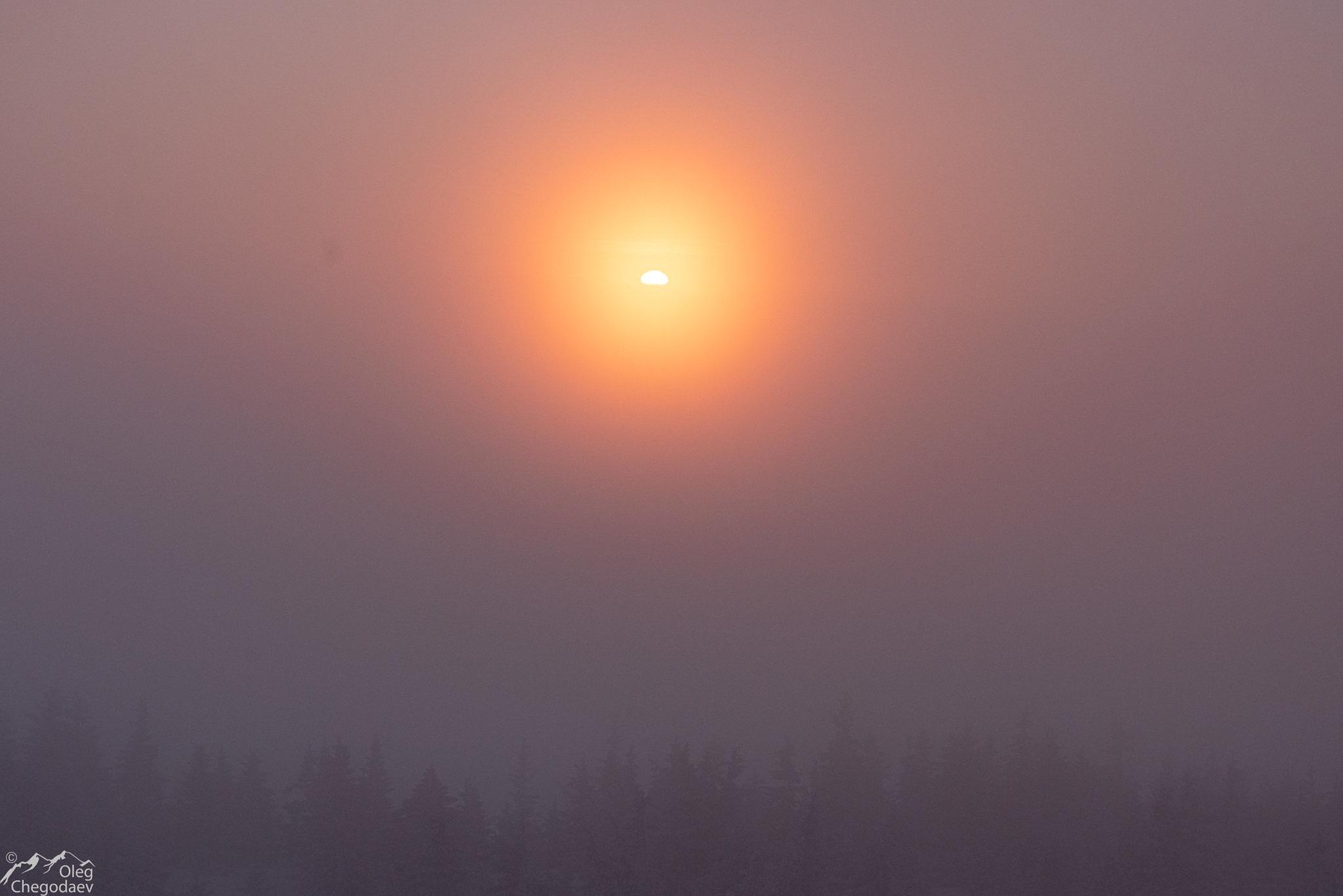 Рассвет в облаках над Зигальгой