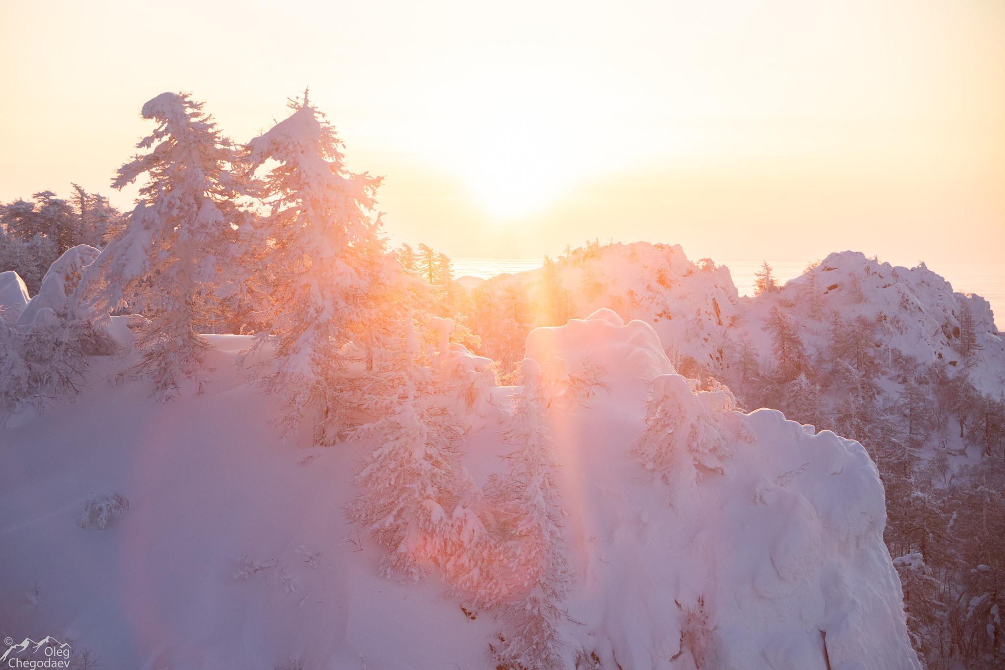 Рассвет на горе Масим