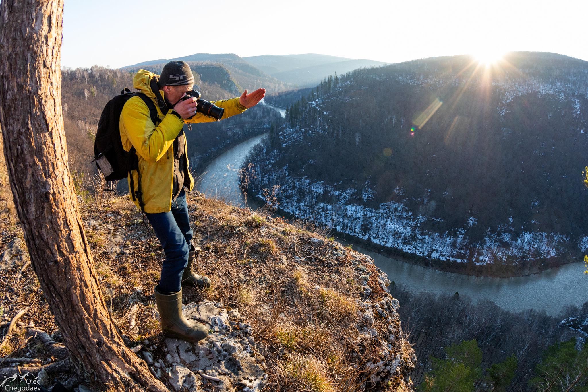Сергей Карпухин в национальном парке Башкирия