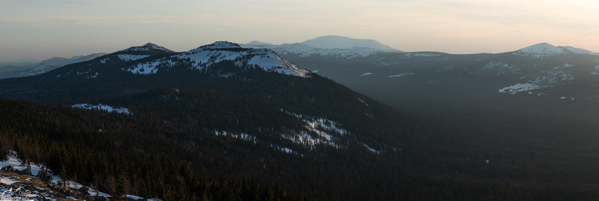 Вид на ямантау, хр. Машак и долину реки Юрюзань