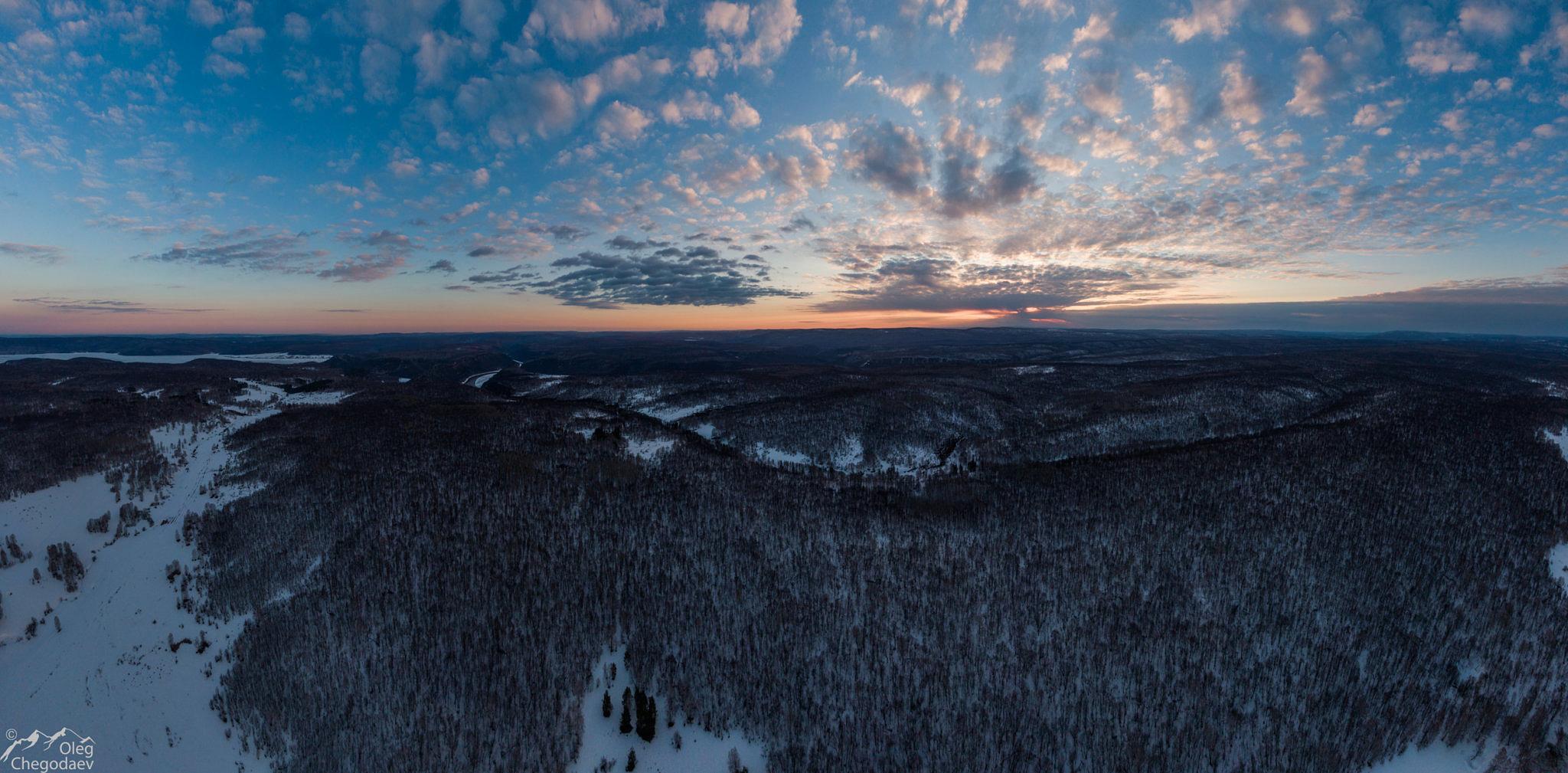 Рассвет над Национальным парком Башкирия