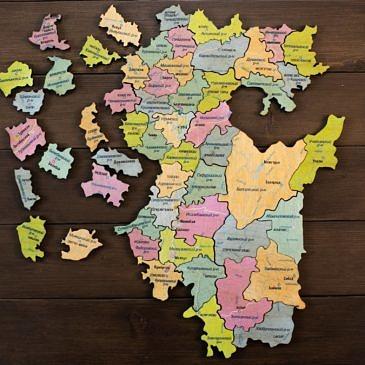 карта пазл Башкирия