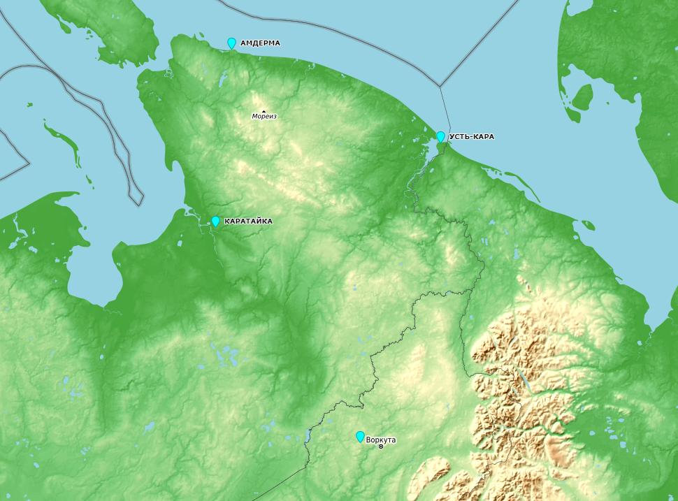 Населенные пункты окружающие Пай-Хой