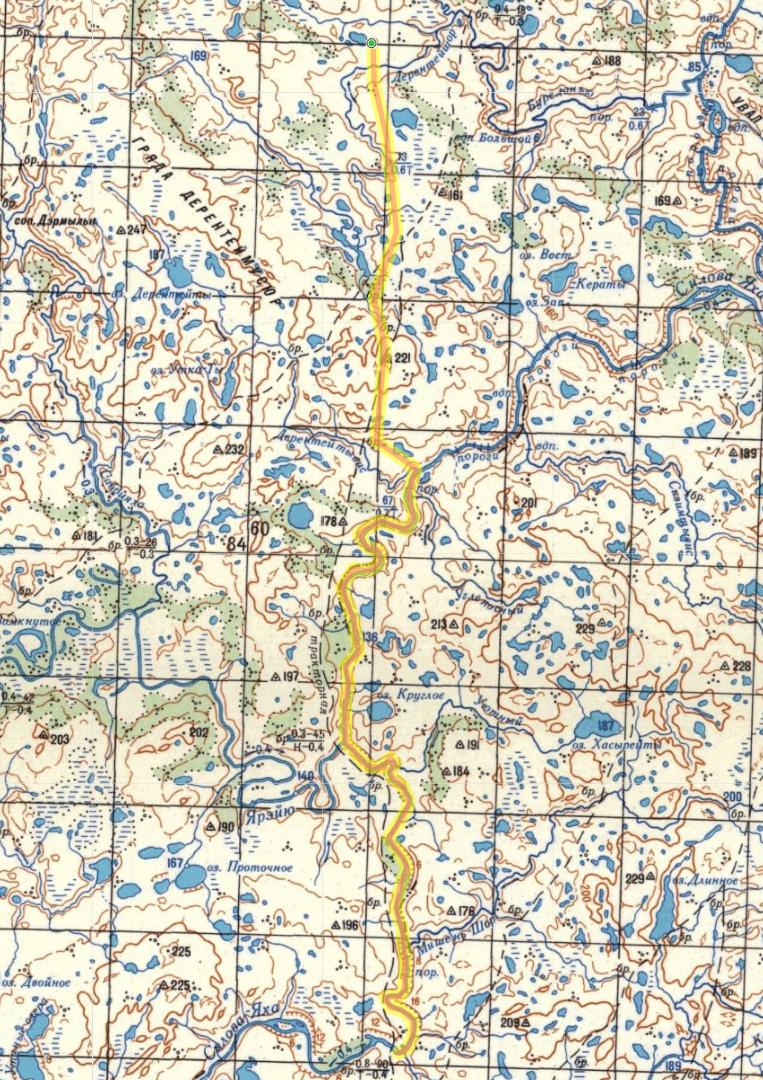 карта 2 день пересечения Пай-Хоя