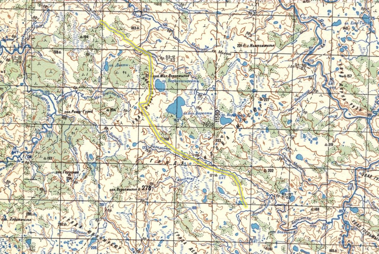 карта 3 день пересечения Пай-Хоя