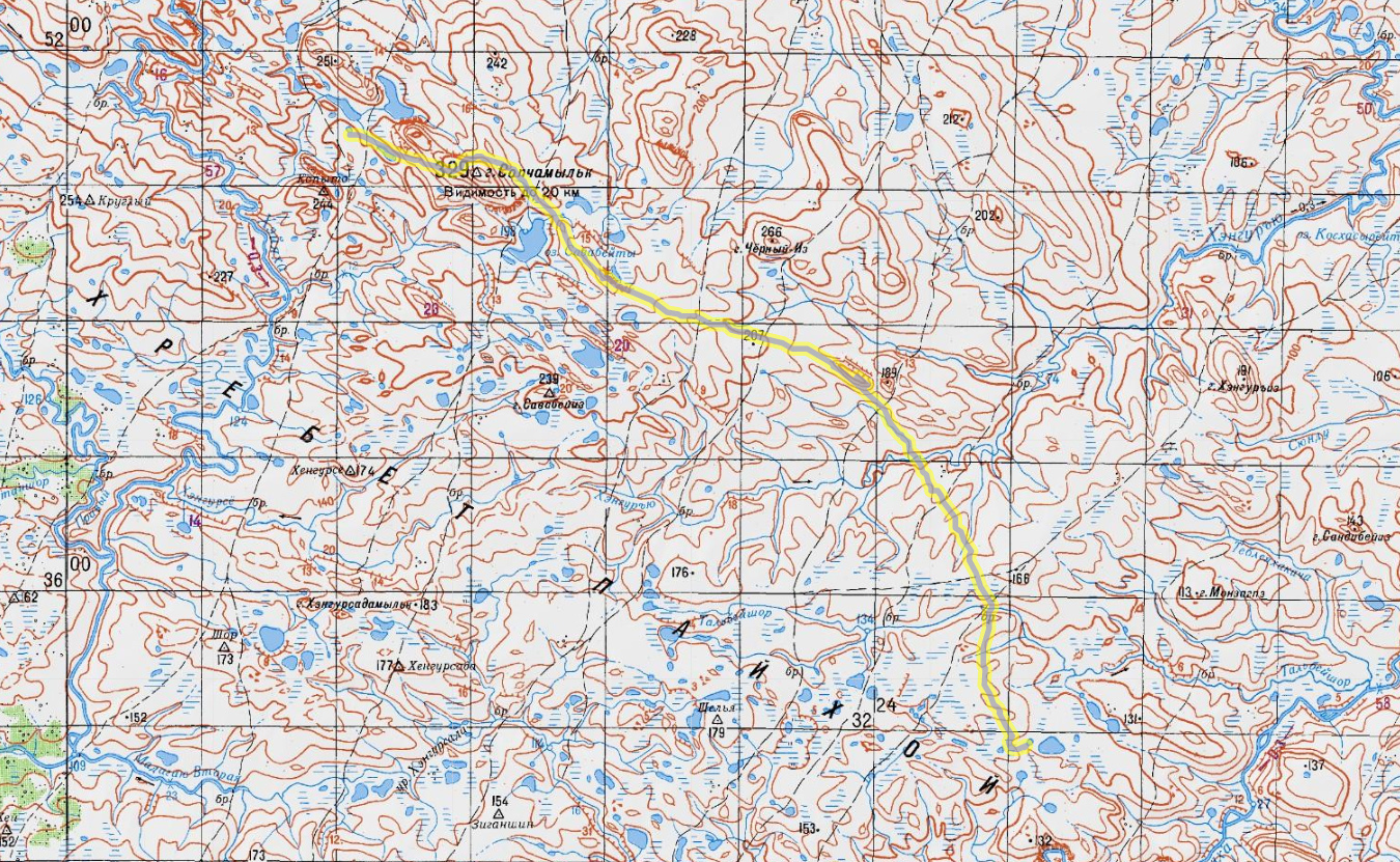 карта 4 день пересечения Пай-Хоя