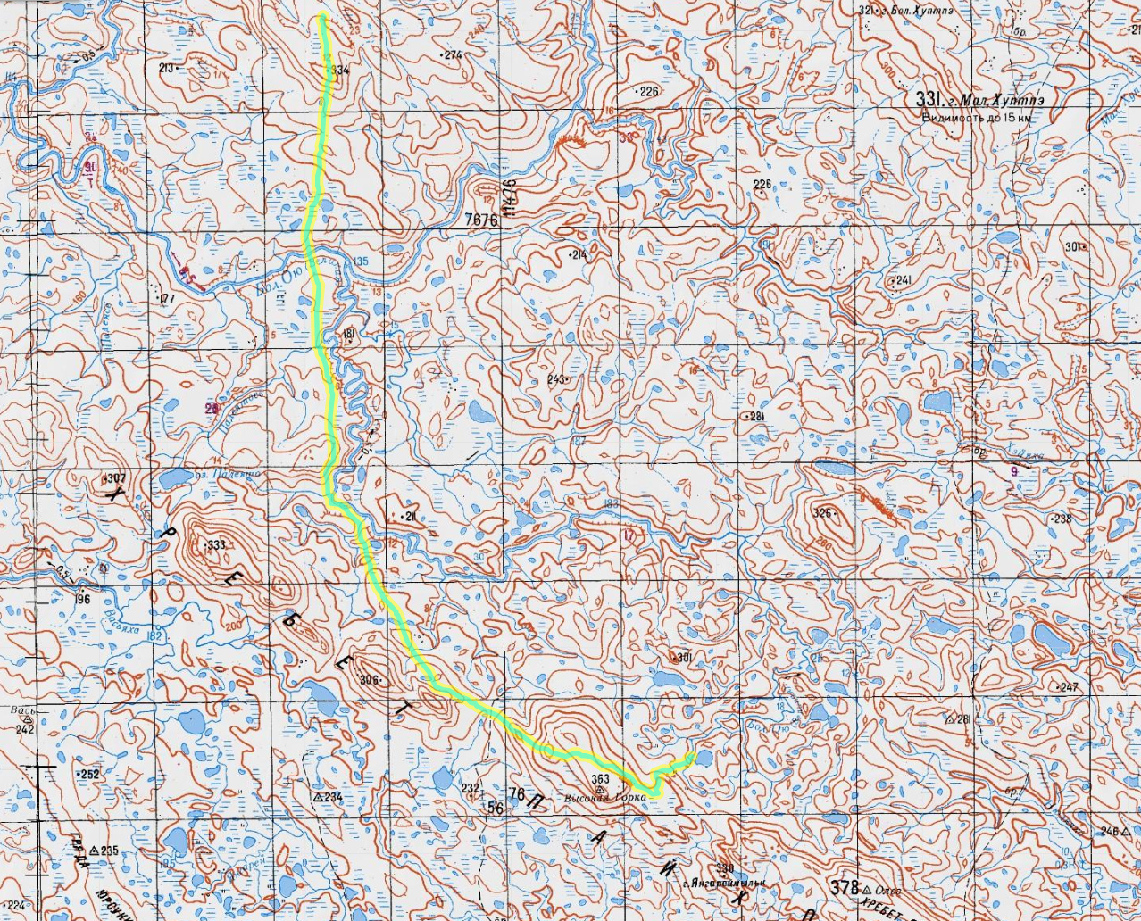 карта 7 день пересечения Пай-Хоя