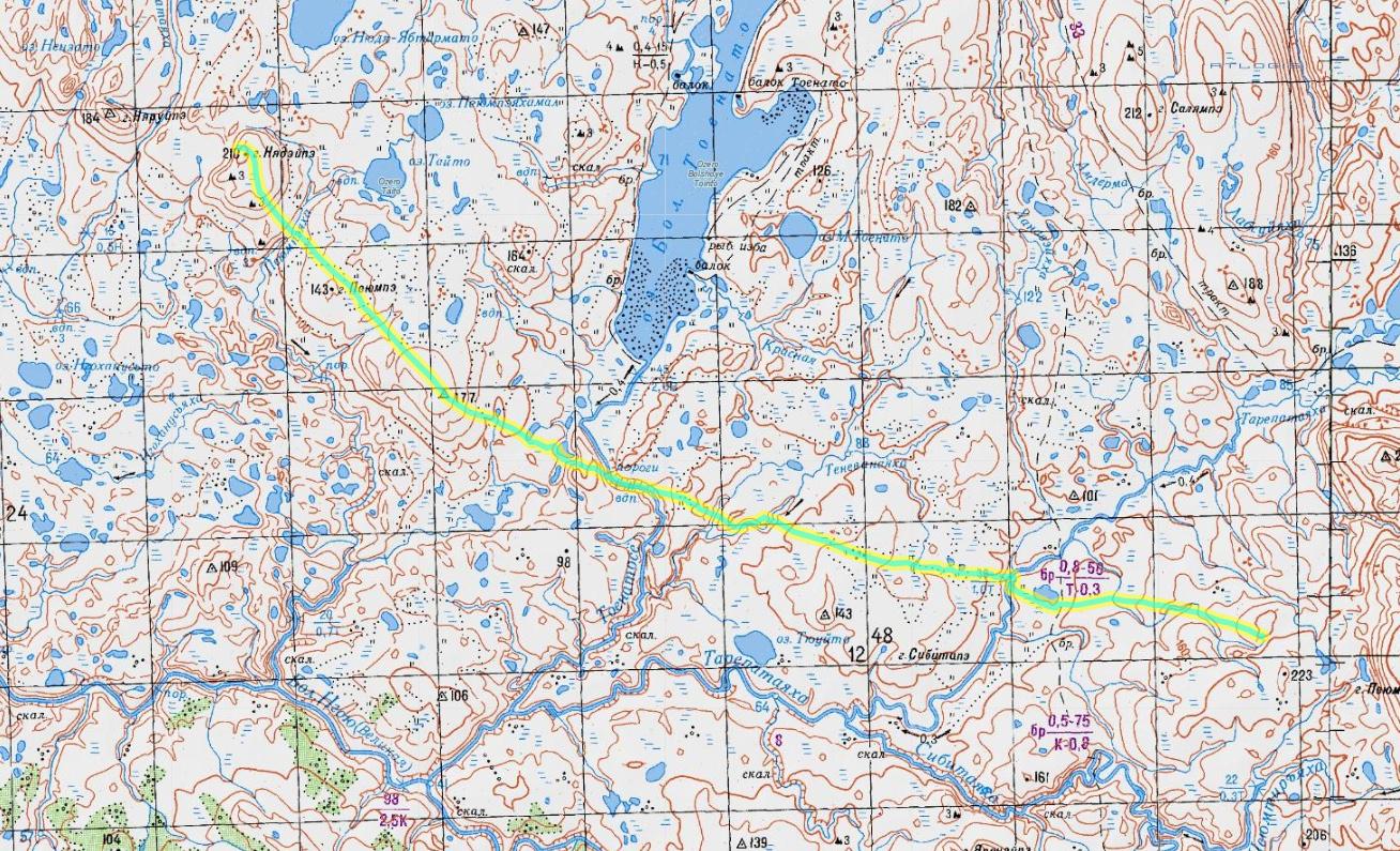 карта 9 день пересечения Пай-Хоя