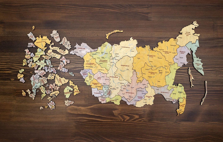 карта пазл Россия
