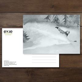 открытка про сноуборд