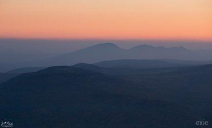 Хребет Зигальга с вершины Ямантау