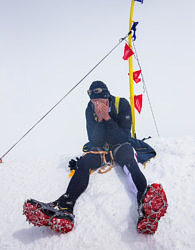Эмоции победителя RedFox Elbruse Race 2016