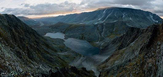 Восход над озером Верхнее Балбанты и долина реки Балбанью