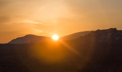 Ямантау на закате